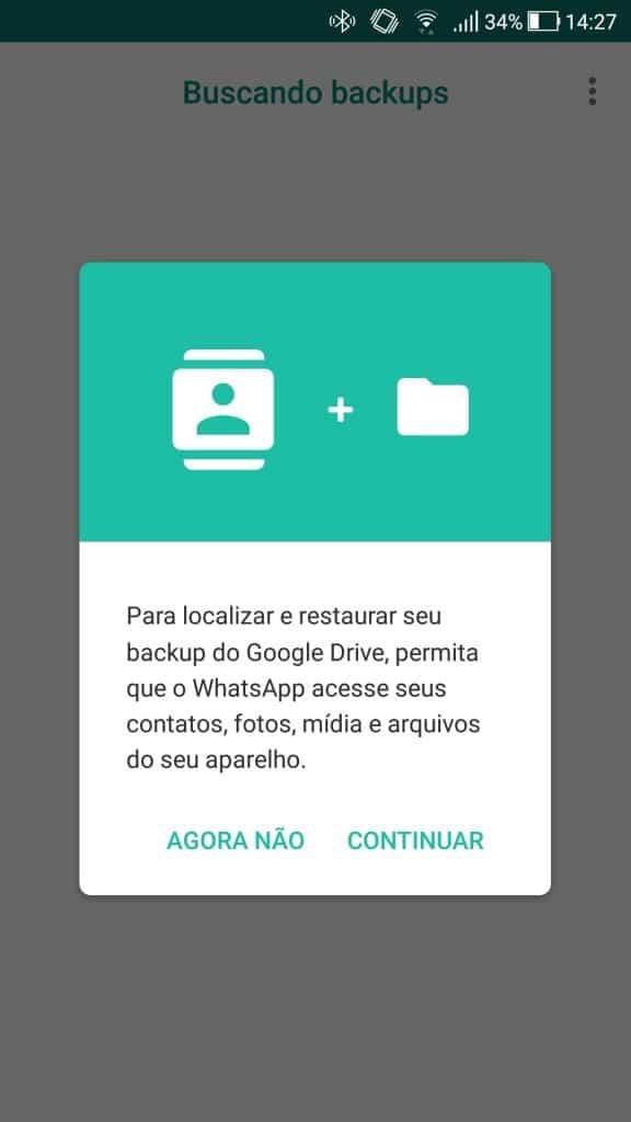 Como fazer e restaurar backup de WhatsApp no Android?