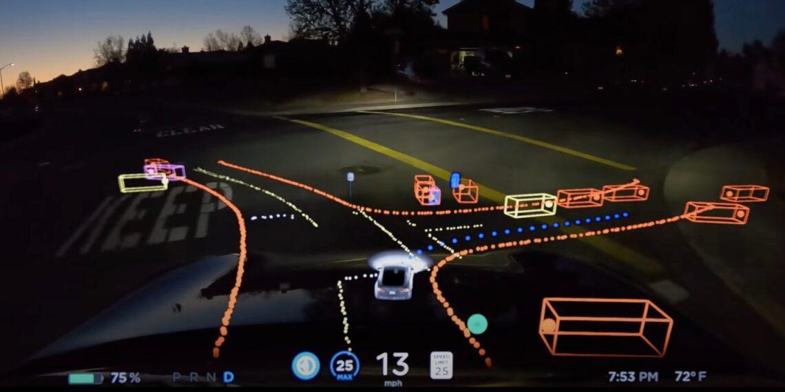 """Nova interface da Tesla mostrará aos motoristas como a direção autônoma funciona: """"mente do carro"""""""